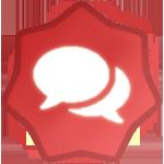 5.000 Post Badge